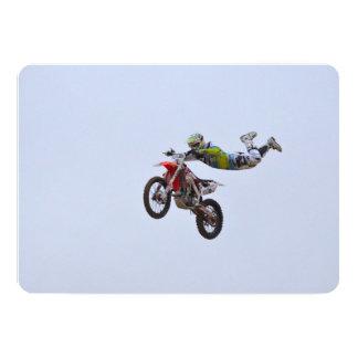 Crazy Motocross Personalized Invites