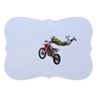 Crazy Motocross Custom Invitation