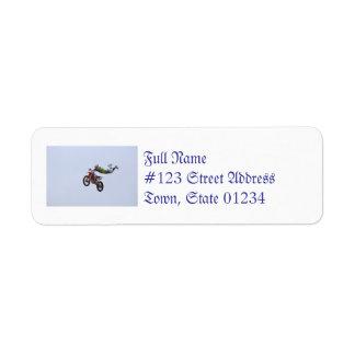 Crazy Motocross Custom Return Address Labels
