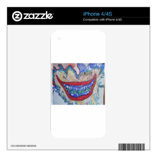 crazy mouth iPhone 4 skins