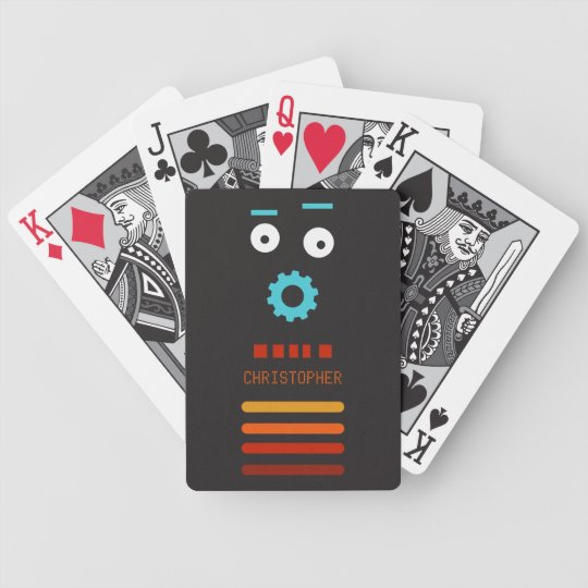 Crazy Mr Robot Playing Cards