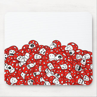 Crazy Mushrooms Mouse Pad