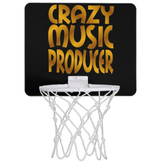 Crazy Music Producer in Gold Mini Basketball Hoops