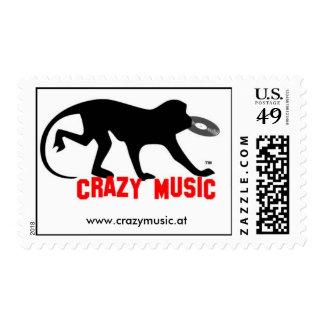Crazy Music Stamp