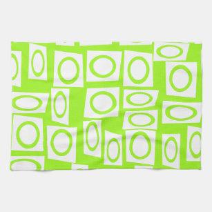 Bright Neon Green Kitchen Hand Towels Zazzle