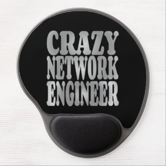 Crazy Network Engineer in Silver Gel Mouse Pad