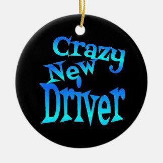 Crazy New Driver Ceramic Ornament