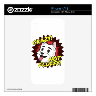 Crazy, not Fluffy! Skins For iPhone 4