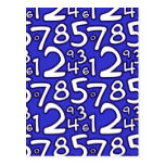 Crazy Numbers - Blue Postales