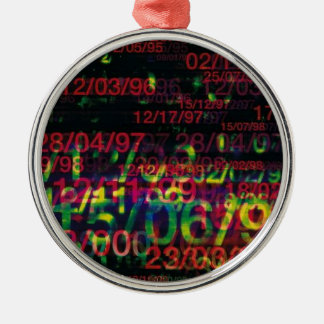 Crazy Numbers Christmas Tree Ornament