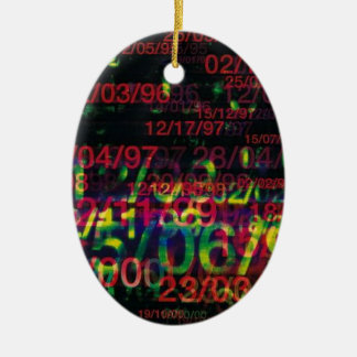 Crazy Numbers Christmas Ornament