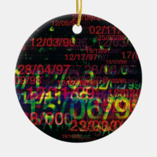 Crazy Numbers Christmas Tree Ornaments