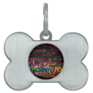 Crazy Numbers Pet ID Tags