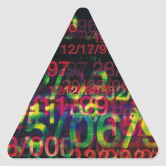 Crazy Numbers Triangle Sticker