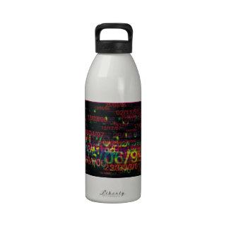 Crazy Numbers Water Bottles