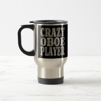 Crazy Oboe Player in Silver Coffee Mugs