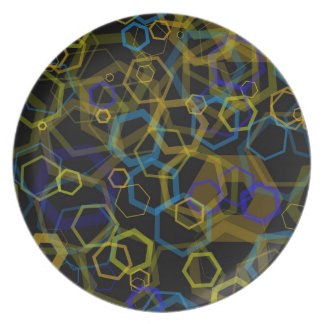 Crazy Octagon Abstract Party Plates