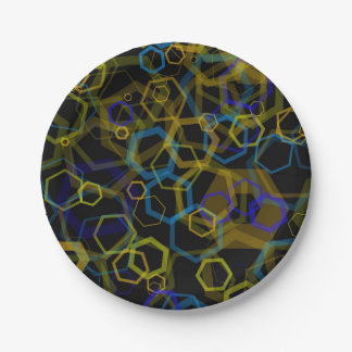 Crazy Octagon Abstract 7 Inch Paper Plate