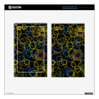 Crazy Octagon Abstract Kindle Fire Skin