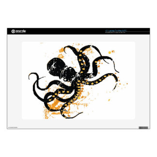"Crazy Octopus Decals For 15"" Laptops"