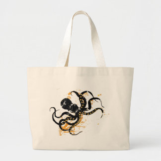 Crazy Octopus Large Tote Bag