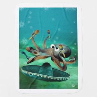 Crazy Octopus with Maracas Receiving Blankets