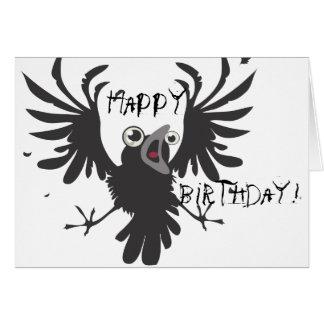 Crazy Old Bird, Happy Birthday! Raven Card