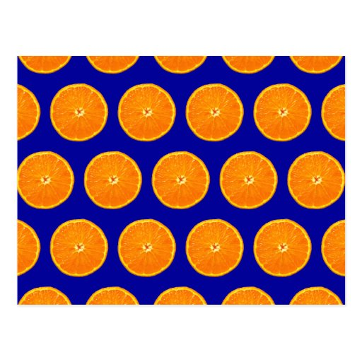 Crazy on Clementines - Blue Postcard