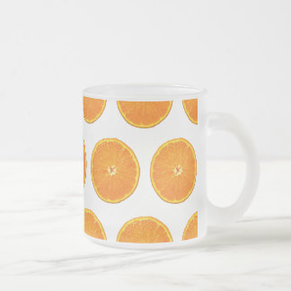 Crazy on Clementines Frosted Glass Coffee Mug