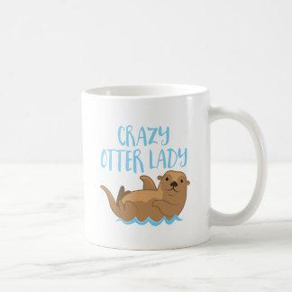 crazy otter lady cute! coffee mug
