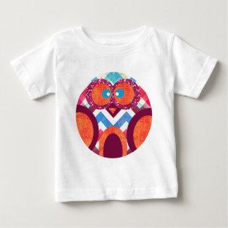 Crazy Owl Colorful Chevron Purple Orange Pink Blue Baby T-Shirt