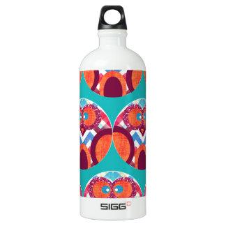 Crazy Owl Colorful Chevron Purple Orange Pink Blue SIGG Traveler 1.0L Water Bottle
