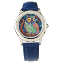 crazy owl wrist watch