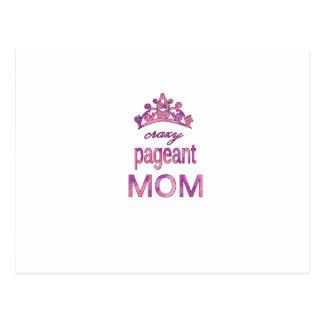 Crazy pageant mom postcard
