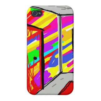 Crazy paint house iphone case case for iPhone 4