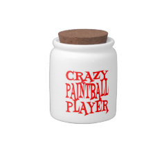 Crazy Paintball Player Candy Jar at Zazzle