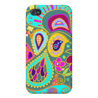 Crazy Paisley in Jade   Case iPhone 4/4S Cases