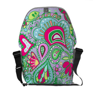 Crazy Paisley Lavender, blue green pink BAG Commuter Bags