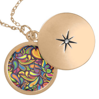 Crazy Paisley Locket Necklace