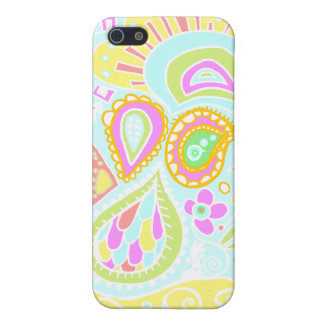 Crazy Paisley - Pale yellow, soft blue & pink CASE
