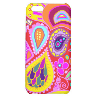 Crazy Paisley  Red, Yellow Pink    Case Cover For iPhone 5C