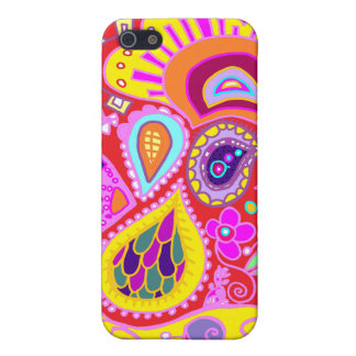 Crazy Paisley  Red, Yellow Pink    Case iPhone 5 Case