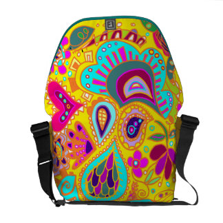 Crazy Paisley  Yellow, orange, pink, turquoise BAG Commuter Bags
