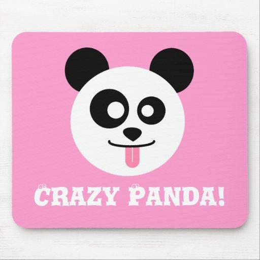 Crazy Panda Mouse Pad | Zazzle