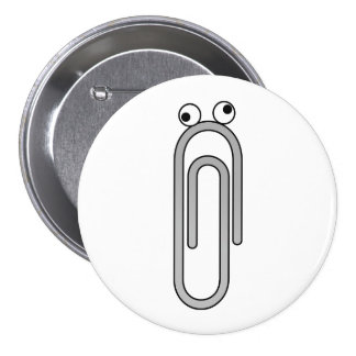Crazy Paperclip Pinback Button