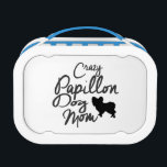"""Crazy Papillon Dog Mom Lunch Box<br><div class=""""desc"""">Funny Papillon Dog Owner Gifts</div>"""