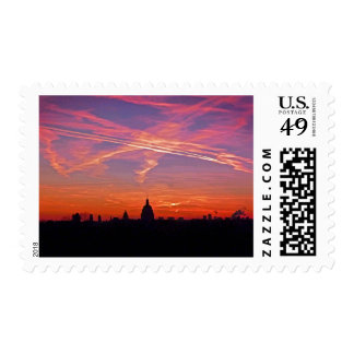 Crazy Paris Sunset Postage
