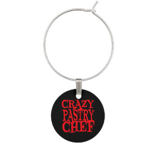 Crazy Pastry Chef Wine Glass Charm
