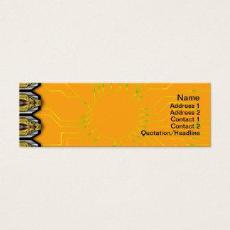 Crazy Pattern Mini Business Card