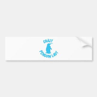 crazy penguin lady bumper sticker